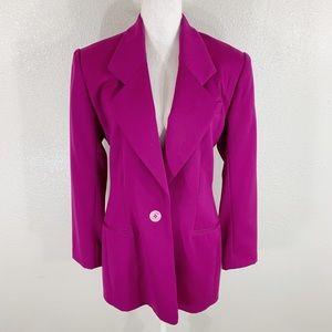 Michael Kors magenta pink purple wool blazer